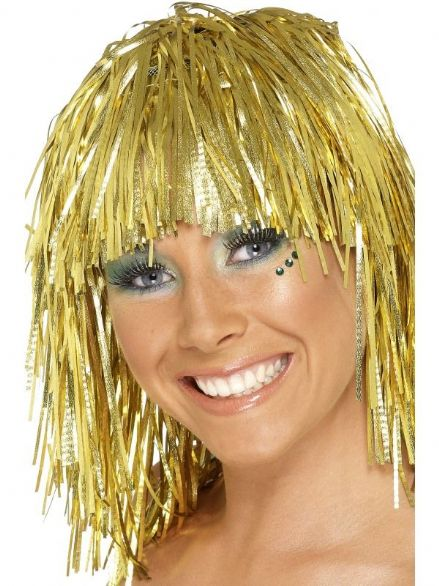 1970's Tinsel Wig in Gold